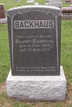 Augusta <I>Fiene</I> Backhaus