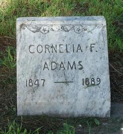 Cornelia Frances <I>Lasher</I> Adams