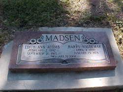 Edith Ann <I>Acomb</I> Madsen