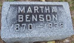 """Martha """"Mattie"""" <I>Knapp</I> Benson"""