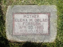 """Mary Elena """"Lena"""" <I>Oblad</I> Forbush"""