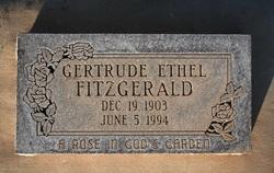 Gertrude Ethel <I>Bonham</I> Fitzgerald