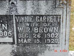 Vinnie <I>Garrett</I> Brown