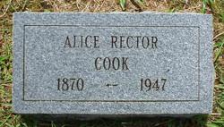 Alice <I>Rector</I> Cook