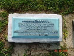 Benjamin Bartlett Cannon, III