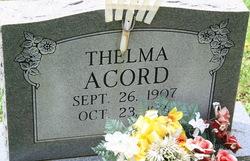 Thelma <I>Adkins</I> Acord