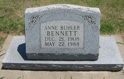 Anne <I>Buhler</I> Bennett