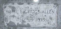 Abbie E <I>Griggs</I> Allen