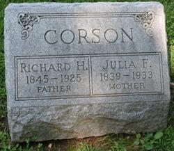 Julia F. <I>Connelly</I> Corson