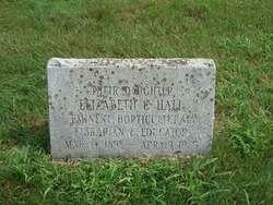 """Elizabeth Cornelia """"Miss Hall"""" Hall"""