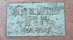 Mary M. <I>Melzer</I> Boyd