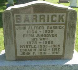 Emma Jane <I>Hoover</I> Barrick