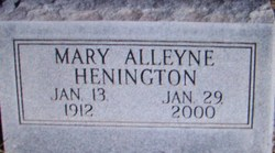 Mary Alleyne <I>Stewart</I> Henington