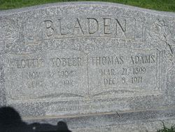 Lottie <I>Tobler</I> Bladen