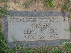 Geraldine <I>Richardson</I> Green