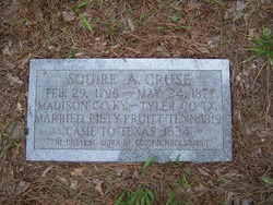 Squire Aathan Cruse 1796 1877