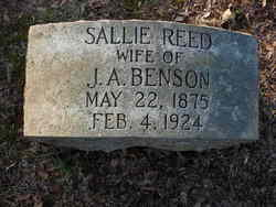 Sallie Louella <I>Reed</I> Benson