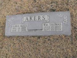 Clara Alice <I>Wheeler</I> Akers