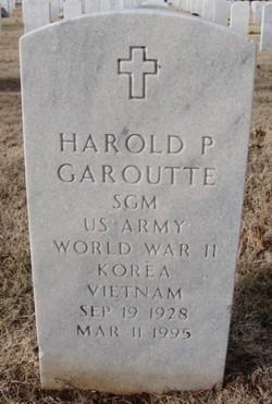 Harold P Garoutte