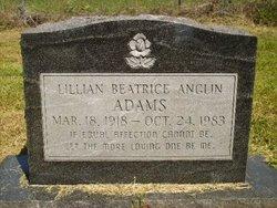 Lillian Beatrice <I>Anglin</I> Adams