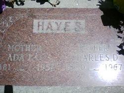 Ada Ingham <I>Openshaw</I> Hayes