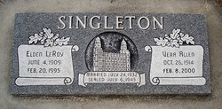 """Thurza Vera """"Vera"""" <I>Allen</I> Singleton"""