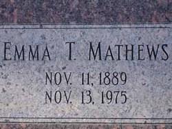 Emma Leona <I>Thompson</I> Mathews