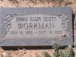 Mary Eliza <I>Scott</I> Workman