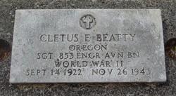 SGT Cletus E Beatty