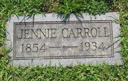 Jennie <I>Hall</I> Carroll