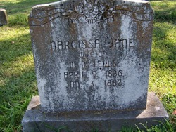 Narcissa Jane <I>Roberson</I> Lewis