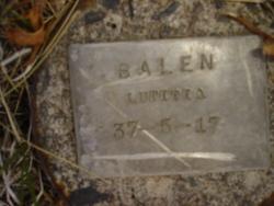 Mary Lutitia <I>Kenneday</I> Bolen (Balen)