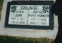 Marie <I>Monnier</I> Gruenig