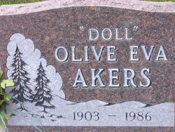 "Olive Eva ""Doll"" <I>Cartwright</I> Akers"
