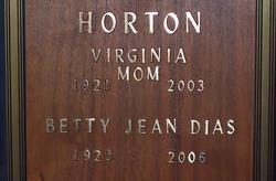 Virginia <I>Dias</I> Horton