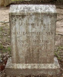 Martha Elizabeth <I>Gainey</I> Milling