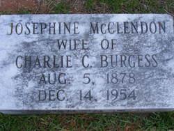 Josephine <I>McClendon</I> Burgess