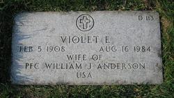 Violet (Viola) Irene <I>Egan</I> Anderson