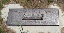 Elaine <I>Lucas</I> Bates