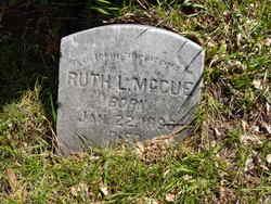 Ruth L <I>Jenes</I> McCue