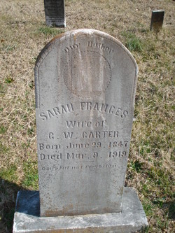 Sarah Frances <I>Trundle</I> Carter