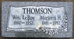 Agnes Marietta <I>H.</I> Thomson