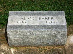 Martha Alice <I>Gilliland</I> Baker