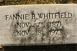 "Frances ""Fannie"" <I>Barnes</I> Whitfield"