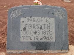 Sarah Elizabeth <I>Simmons</I> Forsyth