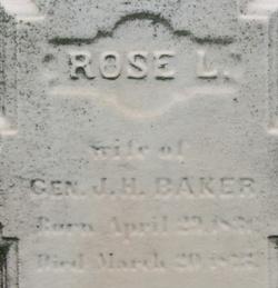Rose Lucia <I>Thurston</I> Baker