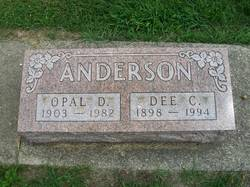 Opal D <I>Fisher</I> Anderson