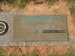 Alice <I>Bagwell</I> Fortner