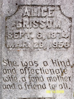 Alice <I>Holley</I> Grissom