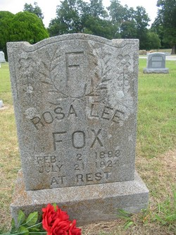 Rosa Lee <I>Hensey</I> Fox